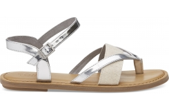 Dámske strieborné sandálky TOMS Specchio Lexie