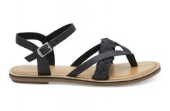 Dámske čierne sandálky TOMS Leather Lexie