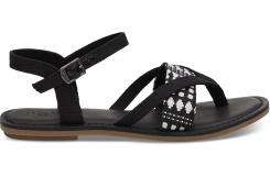 Dámske čierne sandálky TOMS Canvas Tribal Lexie