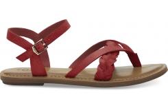 Dámske červené sandálky TOMS Suede Lexie
