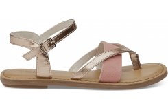 Dámske strieborné sandálky TOMS Specchio Oxford Lexie
