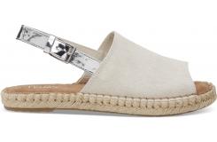 Dámske krémové sandály TOMS Suede Clara