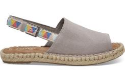Dámske šedé sandály TOMS Tribal Oxford Clara