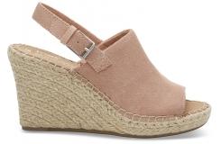 Dámske ružové sandálky na platforme TOMS Suede Monica