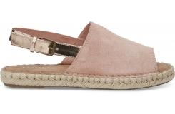 Dámske ružové sandály TOMS Suede Clara