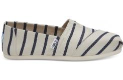 Dámske bielo-modré TOMS Stripes Venice Collection Alpargatas