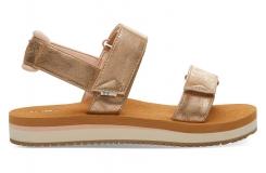 Dámske zlaté sandále TOMS Ray Sandals