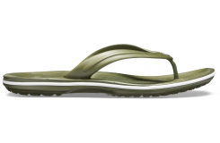 Crocband Flip  Army Green/White