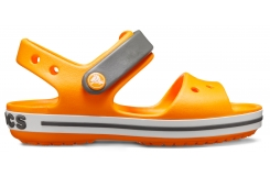 Crocband Sandal Kids Orange/Slate Grey C7