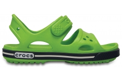 Crocband II Sandal PS - Volt Green/Navy C8