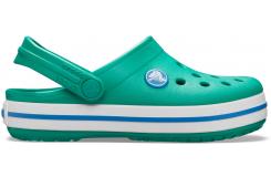 Crocband Clog K Deep Green/Prep Blue C10