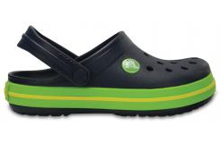 Crocband Clog K - Navy/Volt Green C7