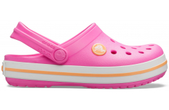 Crocband Clog K Electric Pink/Cantaloupe C10
