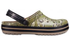 Crocband Graphic Clog Dark Camo Green M4/W6