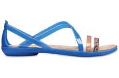 Isabella Grph Strappy Sandal Blue Jean/Gold W5