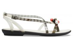 Drew X Crocs Isabella G Sndl W Black/White W6