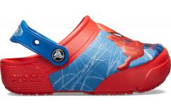 CrocsFL SpiderMan Lts Clg K Flame Flame