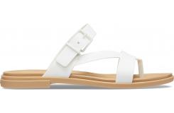 Crocs Tulum Toe Post Sandal W Oyster/Tan