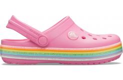 Crocband Rainbow Glitter Clg K Pink Lemonade C10