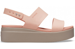 Crocs Brooklyn Low Wedge W Pale Blush/Mushroom