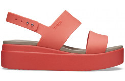 Crocs Brooklyn Low Wedge W Spicy Orange/Spicy Orange