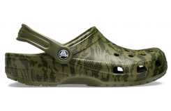 Classic Printed Camo Clog Army Green M10W12