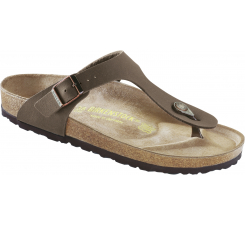 Hnedé papuče Birkenstock Gizeh Birko-Flor Nubuck
