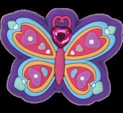 Odznačik Jibbitz - Rhinestone Butterfly