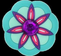 Odznačik Jibbitz - Rhinestone Pink Flower