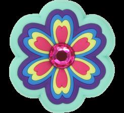 Odznačik Jibbitz - Rhinestone Rainbow Flower
