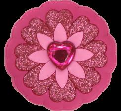 Odznačik Jibbitz - Rhinestone Heart Flower