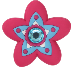 Odznačik Jibbitz - Rhinestone Star Flower