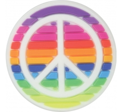 Odznačik Jibbitz - Rainbow Peace Sign