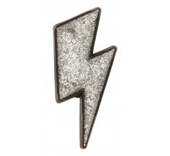 Odznačik Jibbitz - Silver Lightning Bolt
