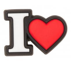 Odznačik Jibbitz - I Heart