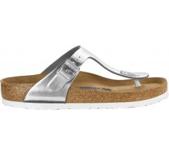 Strieborné papuče Birkenstock Gizeh Metallic Leather