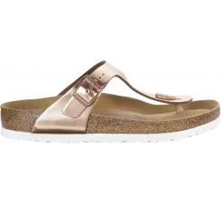 Medené papuče Birkenstock Gizeh Metallic Leather