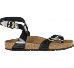 Čierne sandále Birkenstock Yara Birko-Flor Patent