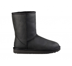 Topánky UGG Classic Short Leather Black