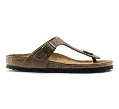 Hnedé papuče Birkenstock Gizeh Oiled Leather