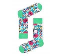 Farebné ponožky Happy Socks so vzorom Cake X Steve Aoki