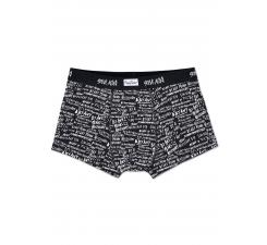 Čierne boxerky Happy Socks s bielym vzorom By Any Means x Steve Aoki