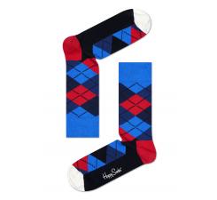 Farebné ponožky Happy Socks s károvným vzorom Argyle