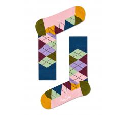 Farebné ponožky Happy Socks s károvaným vzorom Argyle