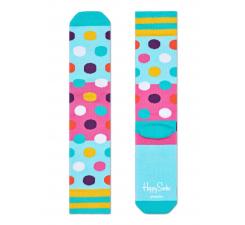 Tyrkysové ponožky Happy Socks s farebnými bodkami, vzor Big Dot // kolekcia Athletic