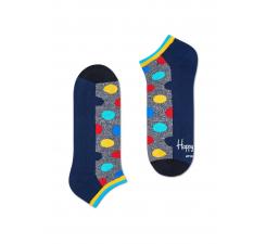 Nízke sivé ponožky Happy Socks s farebnými bodkami, vzor Big Dot // kolekcia Athletic