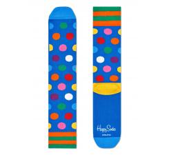 Modré ponožky Happy Socks s farebnými bodkami, vzor Big Dot // kolekcia Athletic