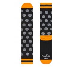 Čierne ponožky Happy Socks s šedými bodkami, vzor Big Dot // kolekcia Athletic