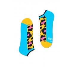 Nízké žlté ponožky Happy Socks s farebným vzorom Leopard // kolekcia Athletic