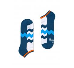 Nízke modro-biele ponožky Happy Socks so zubatými pruhmi, vzor Stripes // kolekcia Athletic